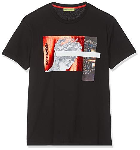Versace Jeans Couture Herren Man Man T-Shirt Pullunder, Schwarz (Nero 899.0), Medium