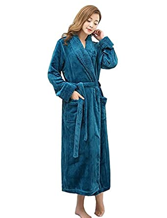 Fortuning\'s JDS Luxury Flannel Fleece Full Length Dressing Gowns ...