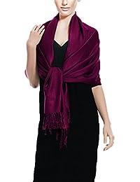Con efecto piel de melocotón Couture sólido y de 198,12 cm x 71,12 cm suave y sedoso chal para eco-con el medio ambiente Pashmina - cierre de velcro - robó (varios colores)