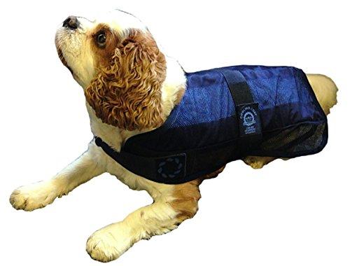 Animate Hundejacke, Kühlung und Tasche, X-Large, 61cm, Marineblau - 2