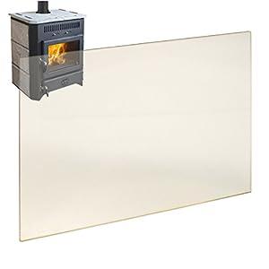 Kaminglas Ofenglas hitzebeständiges Glas bis 800° Ofen Kamin Kaminscheibe Ofenscheibe Ofenglasscheibe 280 x 260 x 4 mm…