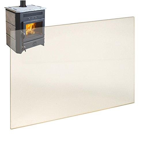 Kaminglas Ofenglas hitzebeständiges Glas bis 800° Ofen...