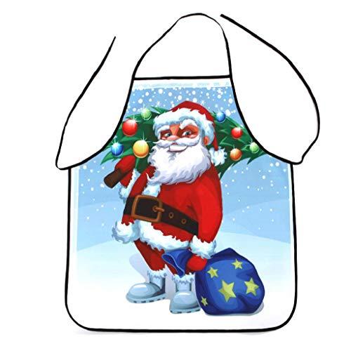 Weihnachten Wasserdichte Schürze Party Dinner Schürze Festliche Weihnachtsdekoration 3D Druck Kochschürze Latzschürze Kochen Küche Schürze BBQ Weihnachten Geschenk Neuheit für Kinder Frauen Männer