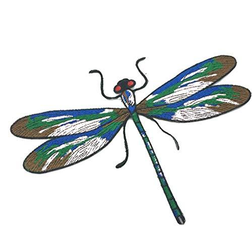F-blue Dragonfly Pattern Kleidung Aufnäher gestickte Flecken gestickten Tuch Applikationen Kostüm Paste Kleid Jeans - Dragonfly Kostüm