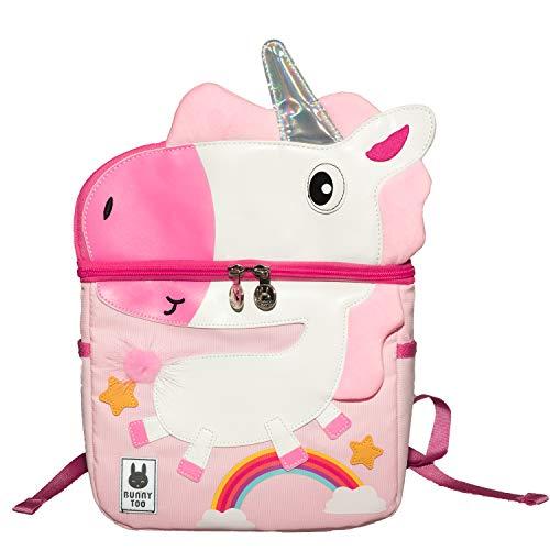 Baby Rucksack Kinder, Sheng Xuan Schultasche Pink Einhorn für Kleinkinder von 4-8 Jahrige, Süß Kindergarten Kinder Rucksack Leichte Jungen/Mädchen/Kinder/Studenten Schule Tasche (Einhorn)