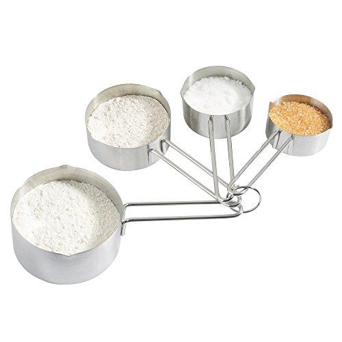 VonShef Set de 4 cuillères doseuses en inox - 60 ml, 80 ml, 125 ml et 250 ml