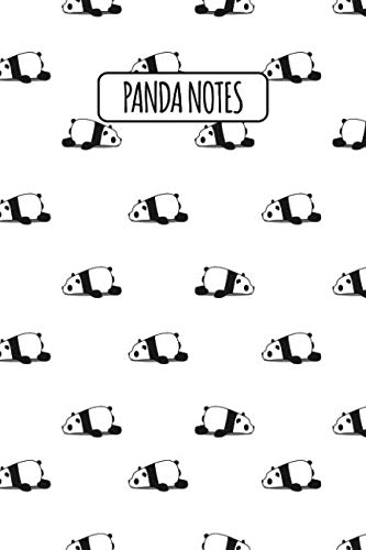 Panda Notes: Blank Lined Notebook with Giant Panda Facts - Lazy Sleeping Pandas