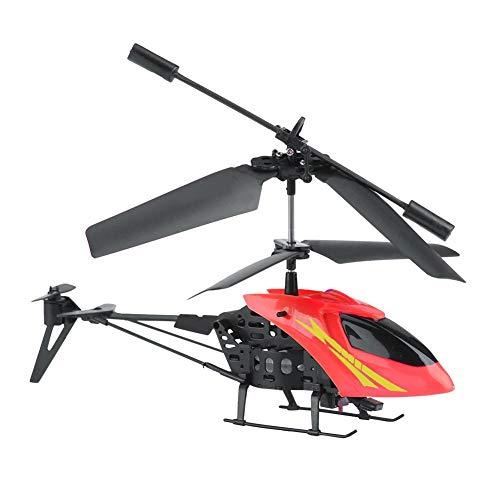 RC Flugzeug, Mini 2CH Infrarot Fernbedienung Flugzeug Hubschrauber Modell Flugzeug Drohne Spielzeug(Rot)