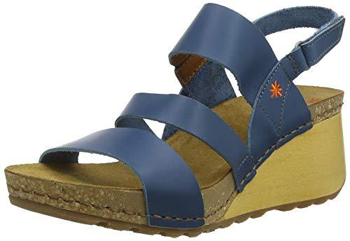 Art Damen 1320 Becerro Jeans/Borne Peeptoe Sandalen, Blau, 38 EU
