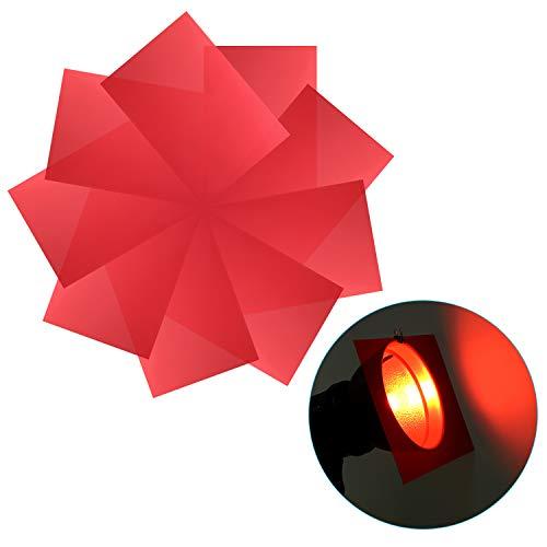 Neewer 9-Pack Gelfilter, Farbige Platten, Transparente Farbfolie, Korrekturgel-Lichtfilter für Fotostudio-Blitzlicht, LED-Videoleuchte, DJ-Licht usw. 11,8x7,9 Zoll (Rot)
