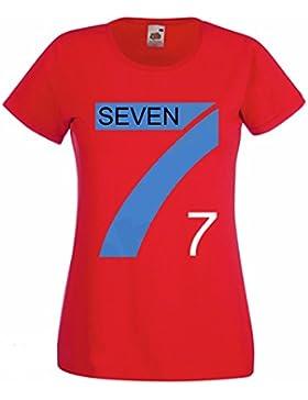 L'Arcobaleno di Luci - T-Shirt Donna Pallavolo Tipo Mila Seven Fighters Maglietta Team