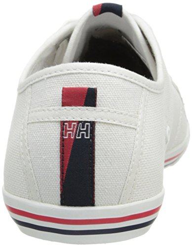 Helly Hansen Oslo Fjord Canvas, Sneakers Basses Femme Blanc - Weiß (001 WHITE / NAVY / CORAL)