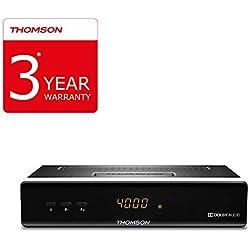 THOMSON THS222 Récepteur Satellite numérique HD (HDMI, Péritel, Ethernet, USB 2.0, Audio S/PDIF coax) noir