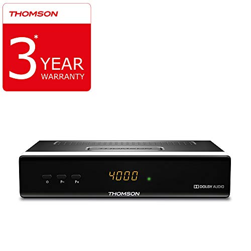 Thomson Ths222 Ricevitore Satellitare Digitale Decoder, Display con Ora o Numero di Canale - Dvbs2, Hdtv [hd, Hdmi, Scart, Dvb-s2, Usb, S/pdif Coassiale] - Nero