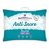 Slumberdown Anti-Snore Super Support Pillow, Single, Suitable for Back and Side Sleepers