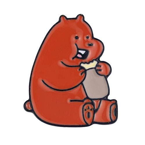 X-Z Exquisite Cartoon Schmuck Wir Orange Nackten Bären Niedlichen Grizzly Panda EIS Bär Metall Pins & Amp; Broschen Abzeichen