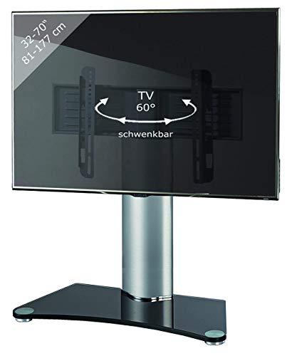 """VCM TV Standfuß Tischfuß Fernseh Aufsatz Fuß Erhöhung schwenkbar drehbar Schwarzglas """"Windoxa Maxi"""""""