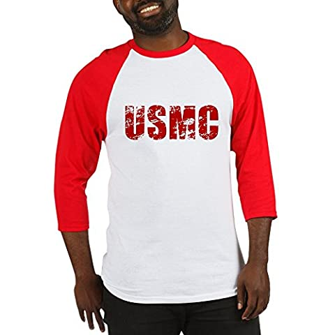 CafePress - USMC - Cotton Baseball Jersey, 3/4 Raglan Sleeve Shirt