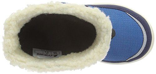 Viking Totak, Bottes de neige mixte enfant Bleu - Blau (petrol/navy 5505)