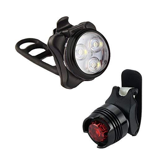 kashyk LED Fahrradbeleuchtung Set,StVZO Zugelassen Fahrradlicht USB Wiederaufladbere Frontlichter und Rücklicht,4 Licht-Modi,Starkes/Schwaches Licht Langsam blinkend, stroboskopisch Fahrradleuchte