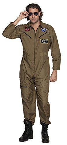 n Ghostbuster Kostüm Overall Anzug Patches Karneval, 2XL, Braun (Kostüme Für Annie)