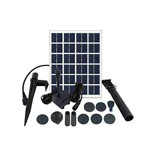LY-LD Solarbrunnen Pumpe-Gratis-Stehen 8W Vogelfeder-Pumpe für Garten und Patio, Solar Panel Kit Wasserpumpe