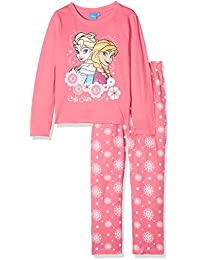 Disney Frozen Elsa & Anna Girls Pyjama - Fuchsia