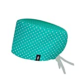 Surgical scrub cap TURQUOISE for long hair.