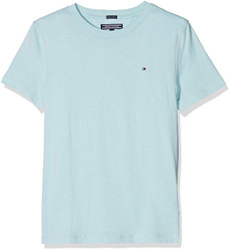 Tommy Hilfiger Jungen T-Shirt Ame Original CN Knit S/S, Blau (Stratosphere 412), 164 (Herstellergröße: 14)