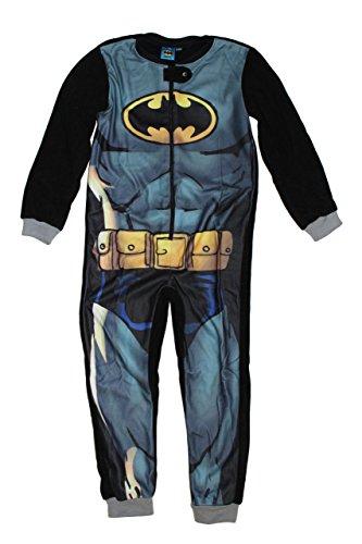 DC Comic Batman Jungen Overall Jumpsuit Onesie (110, Schwarz) (Batgirl Anzug)