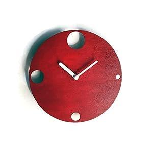 19cm Kleine hölzerne ruhige wanduhr ohne tickgeräusche in vielen farben wie rubin rot Keine tickenden wanduhren Modernes…