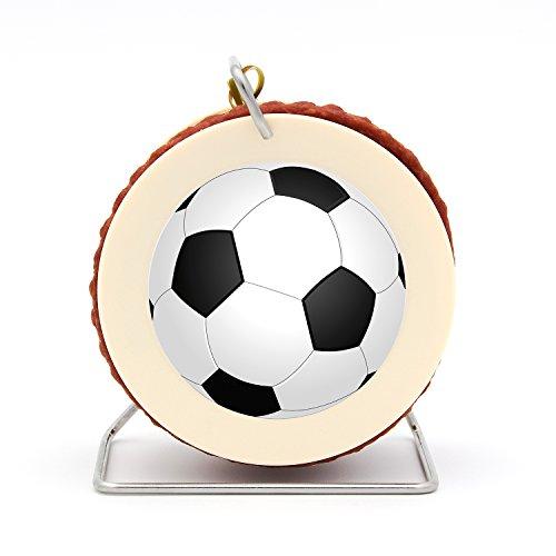 Fußball Wurst Kabeltrommel WM 2018-3,5 Meter Wurst Snack nach Krakauer Art auf einer Mini Kabel-Trommel – 240 g