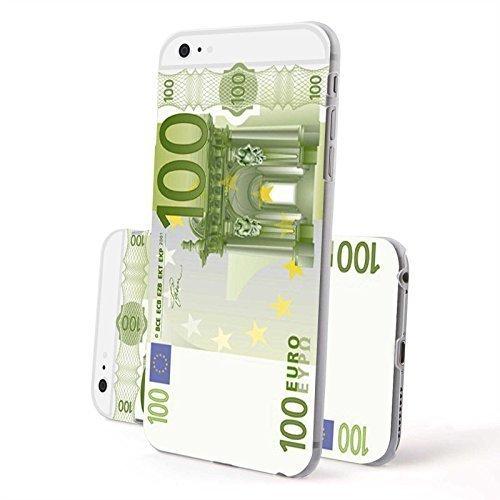 Finoo Iphone 6/6S Plus Hardcase Handy-Hülle | Transparente Hart-Back Cover Schale mit Motiv Muster | Tasche Case mit Ultra Slim Rundum-schutz | stoßfestes dünnes Bumper Etui | 100 Euro Schein (Euro-schein-muster)