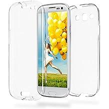 Caso doble para Samsung Galaxy S3 / S3 Neo | Funda de silicona transparente cubre todo | Delgada 360° completa casos del smartphone OneFlow | Back Cover en Transparent