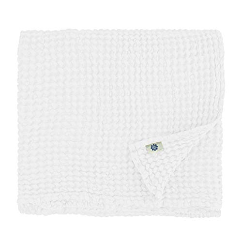 Linen & Cotton Extra Soft Washed Waffle Bath | Hand | Face | Guest | Baby Towel ALVA - 75 x 110cm (30'' x 44''), White