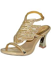 Unicrystal - Zapatos con correa de tobillo mujer