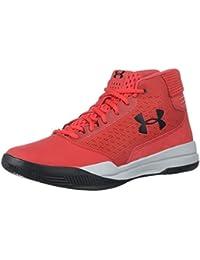 Under Armour UA Jet Mid, Zapatos de Baloncesto para Hombre, Rojo (Pierce), 41 EU