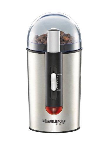 ROMMELSBACHER EKM 150 elektrische Kaffeemühle mit Schlagmesser/Kaffeepulver täglich frisch/7...