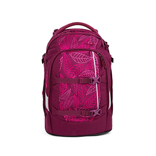 SATCH Purple Leaves Kinder-Rucksack, 45 cm, Lila Rosa Blätter, SAT-SIN-002-9H3 Blatt Pan