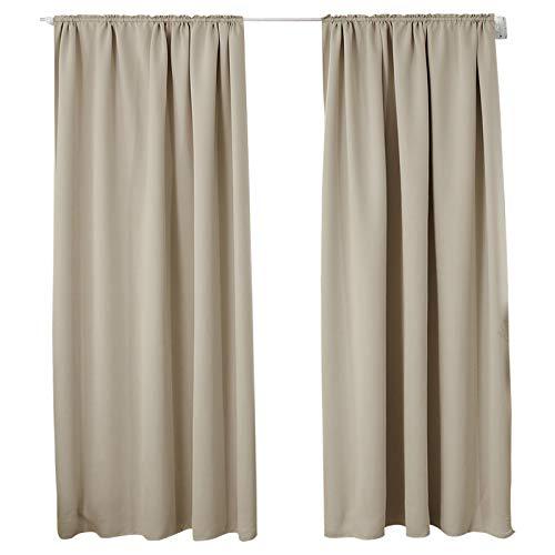 Woltu tende oscuranti termiche isolanti per finestra tenda opaca senza occhielli 2 pannelli