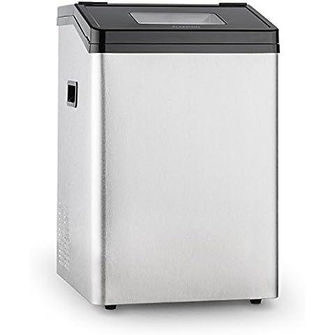 Klarstein Powericer ECO 4 máquina de hielo (450 W, 40 kg/día, depósito de 8 kg, acero inoxidable, tapa con ventanilla)