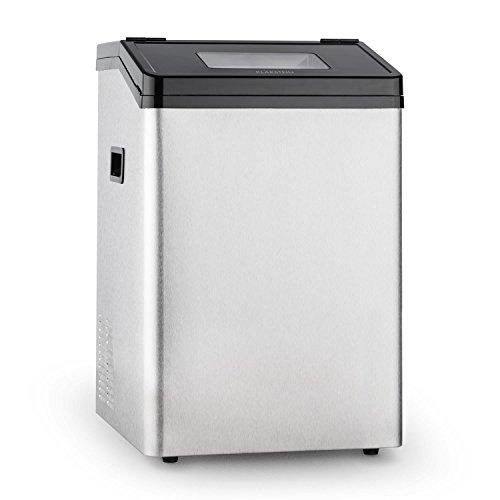 Klarstein Powericer ECO 4 • Eiswürfelmaschine • Eiswürfelbereiter • Ice Maker • 40 kg / 24 h • 450 Watt • 2 Würfelgrößen • 8 kg Eislagerfach • Selbstreinigungsprogramm • Edelstahl • silber