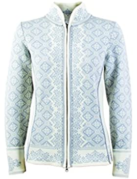 Dale of Norway - Chaqueta para mujer Christiania, color gris metálico/blanco roto, talla S, 81951-A