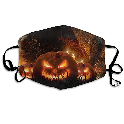 Daawqee Staubschutzmasken, Anti Dust Face Mouth Cover Mask Scary Halloween Pumpkins Anti Pollution Breath Healthy Mask