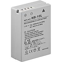 Wentronic CAM f/ NB-10L 850mAh Li-Ion Lithium-Ion 850mAh 7.4V batterie rechargeable - Batteries rechargeables (850 mAh, Lithium-Ion (Li-Ion), 7,4 V, Gris, 1 pièce(s))