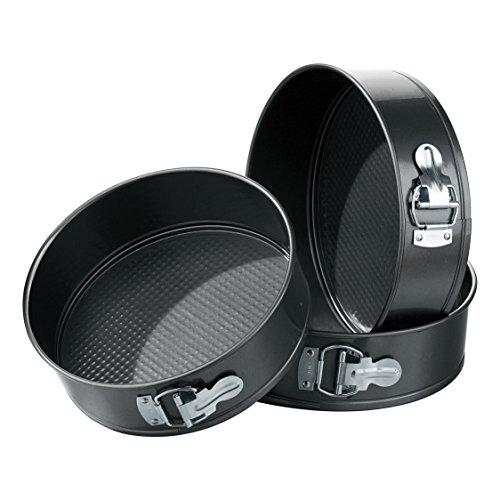 Premier Housewares Ecocook Bratpfanne, schwarzes Aluminium, weiße Keramikbeschichtung - Aluminium-springform Cake Pan