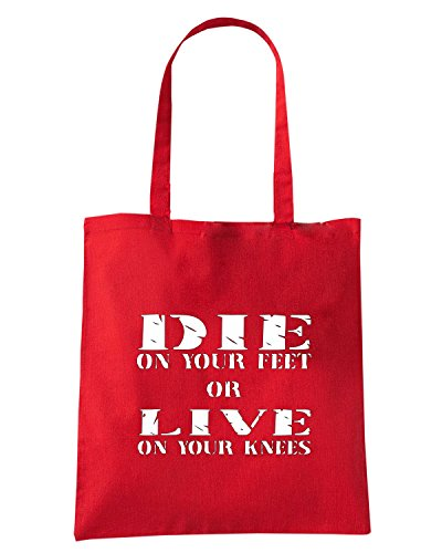 T-Shirtshock - Borsa Shopping OLDENG00748 die or live Rosso