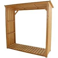Siena Garden 671032 - Cubierta de madera de pino para chimenea (impermeable)