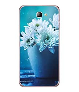 PrintVisa Morning Dew Dahlia High Gloss Designer Back Case Cover for Samsung On5 (2016) New Edition For 2017 :: Samsung Galaxy On 5 (2017)