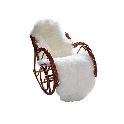 CUSHION Super Weich Schaffell Teppiche Seidig Lange Wolle Teppich Gute Qualität Lammfell Luxus Stuhl Abdeckung Sofa Sitz Mats,2'x6'(60 * 180cm) -
